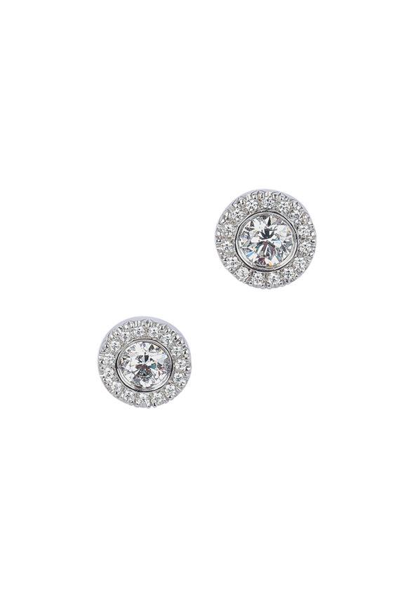 Kwiat 18K White Gold Diamond Silhouette Earrings