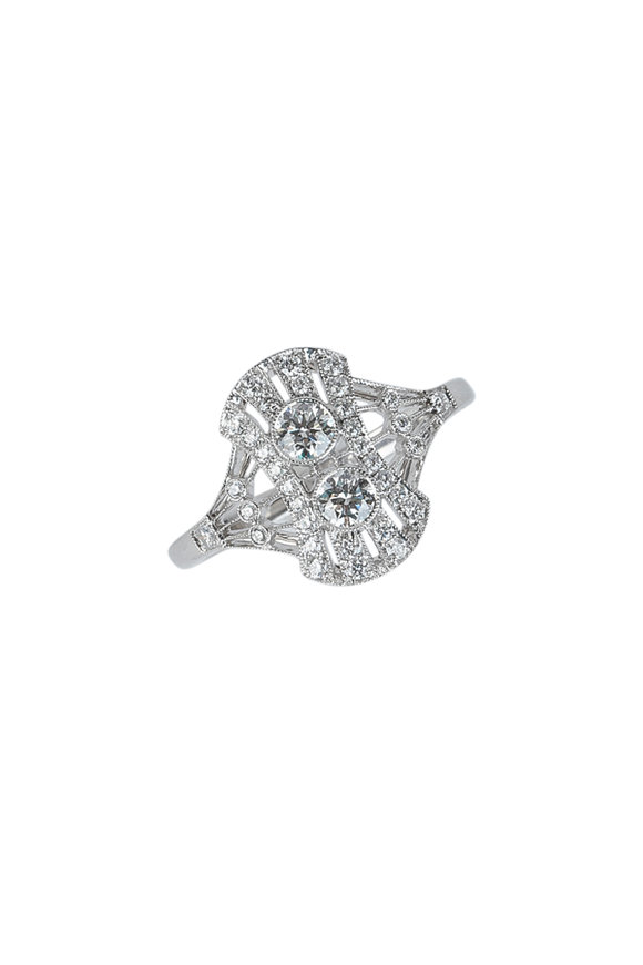Kwiat 18K White Gold Diamond Splendor Ring