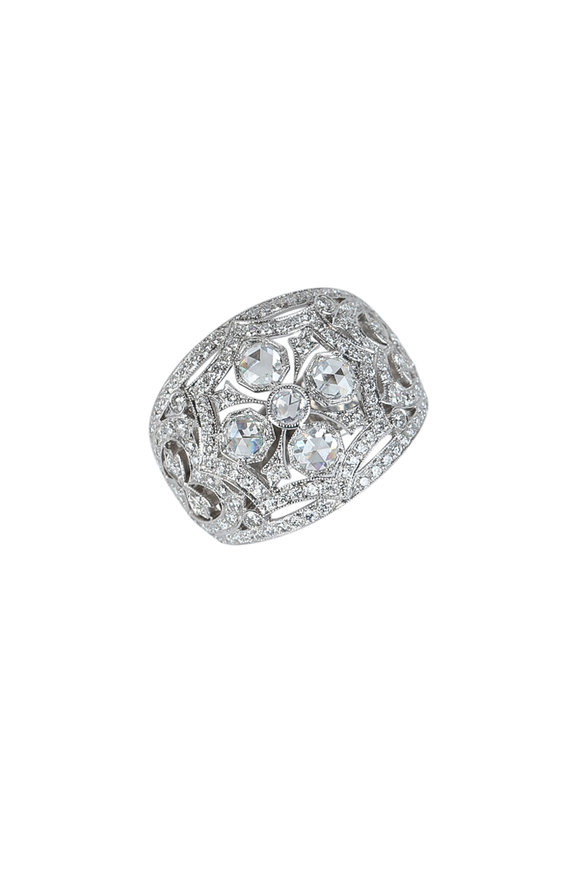 Kwiat 18K White Gold Diamond Splendor Fancy Ring