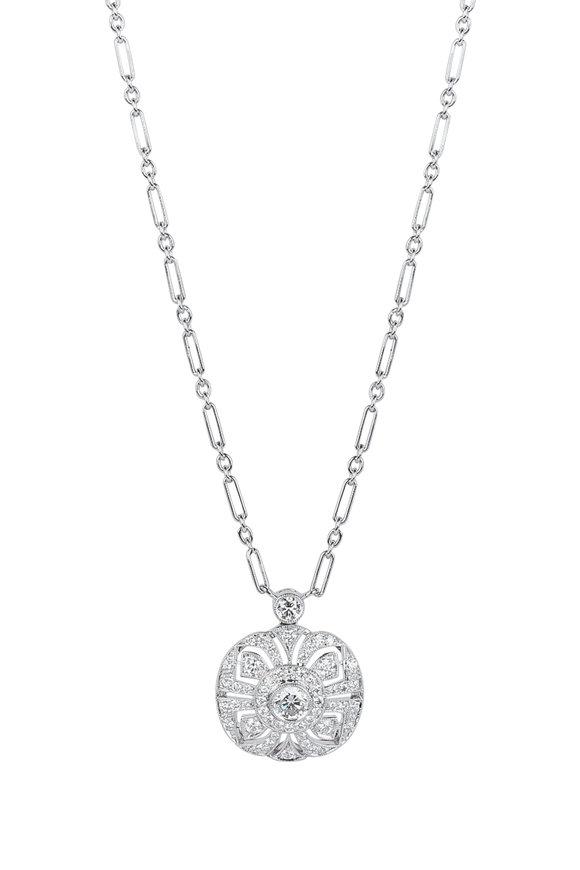 Kwiat 18K White Gold Diamond Splendor Pendant Necklace