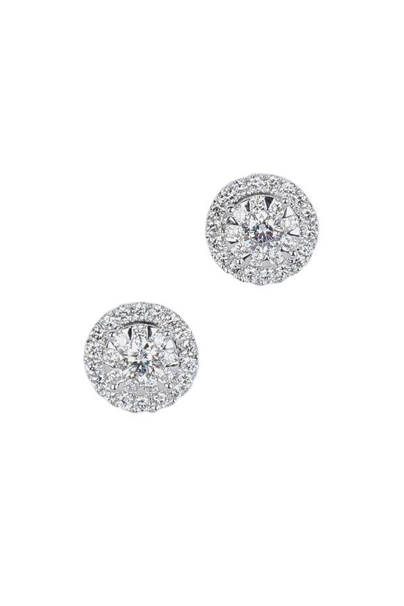 Kwiat 18K White Gold Diamond Sunburst Earrings