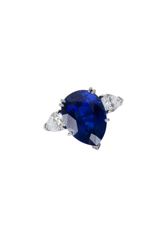 Assael Platinum Sapphire & Diamond Ring