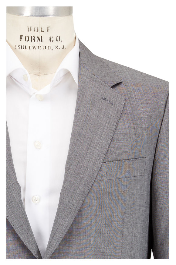 Canali Light Gray Wool & Cashmere Suit