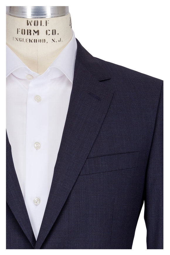 Lanvin Attitude Navy Blue Wool Suit