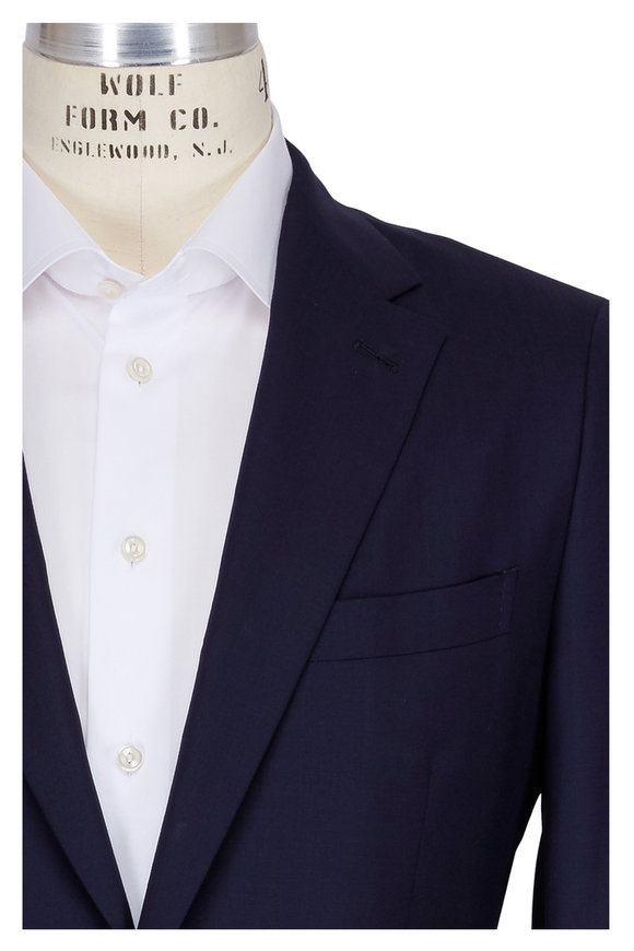 Boglioli Alton Navy Blue Wool Suit