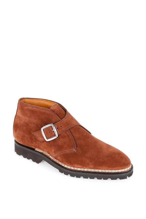 Bontoni Visionario Medium Brown Suede Monk Boot
