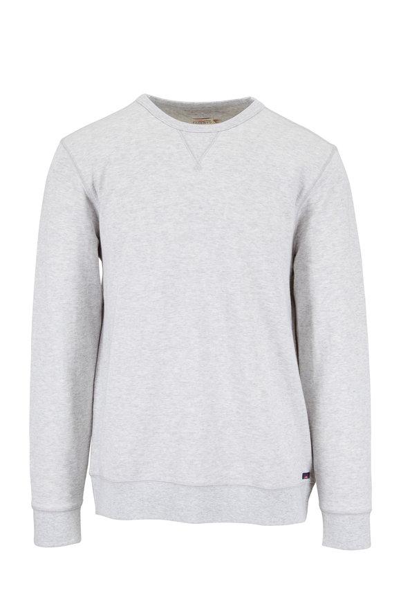 Faherty Brand Gray Crewneck Sweatshirt