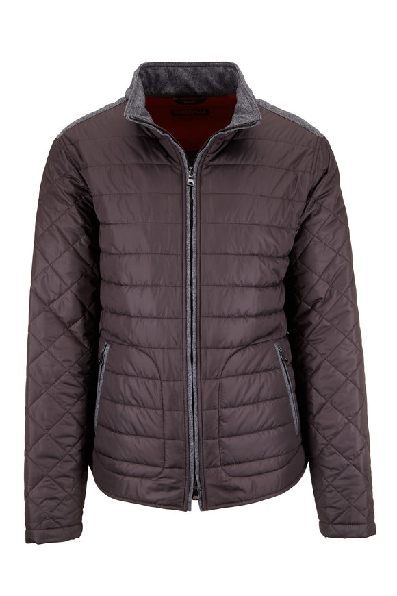 Waterville Rudy Charcoal Gray Quilted Jacket