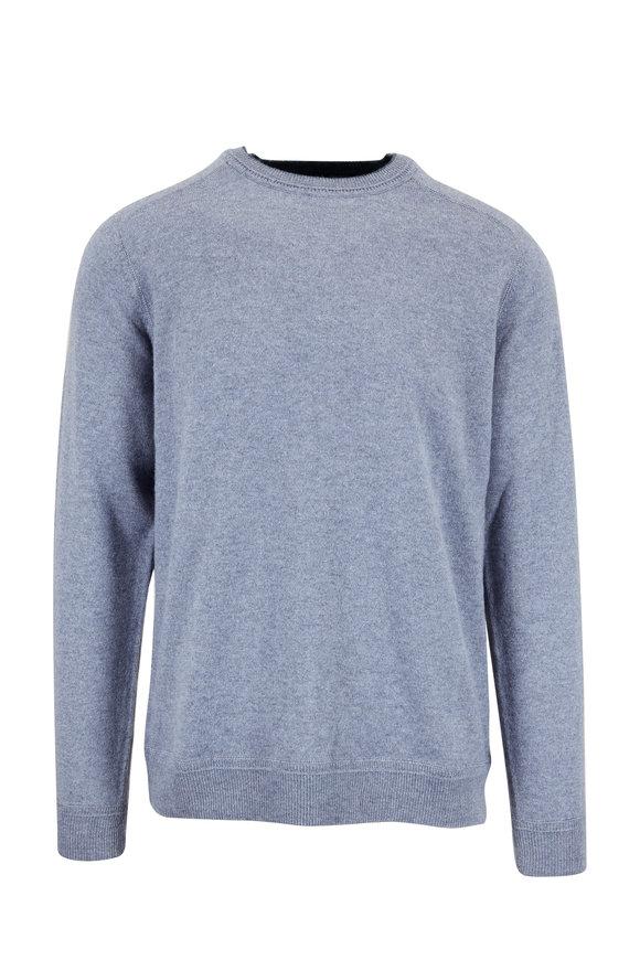 Raffi  Storm Blue Cashmere Crewneck Sweater
