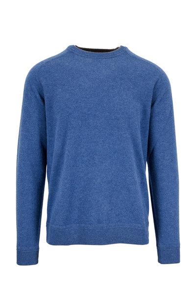Raffi - Denim Blue Cashmere Crewneck Sweater