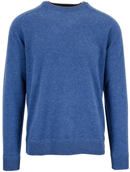 Raffi  Denim Blue Cashmere Crewneck Sweater