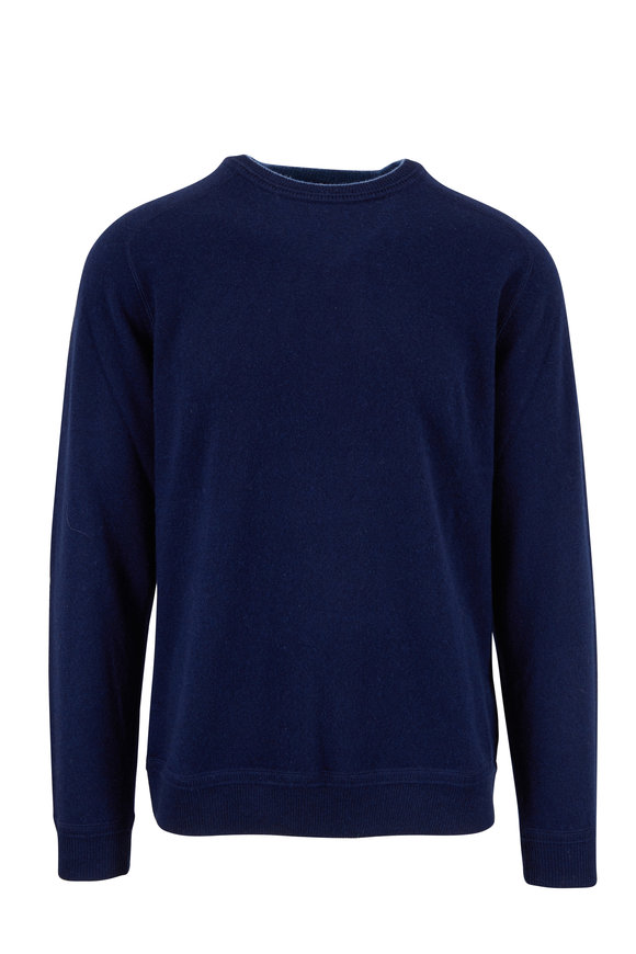 Raffi  Navy Blue Cashmere Crewneck Sweater