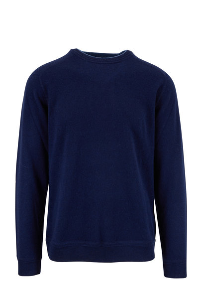 Raffi - Navy Blue Cashmere Crewneck Sweater