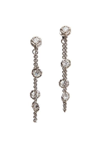 Paul Morelli - White Gold Chain Hoop Earrings