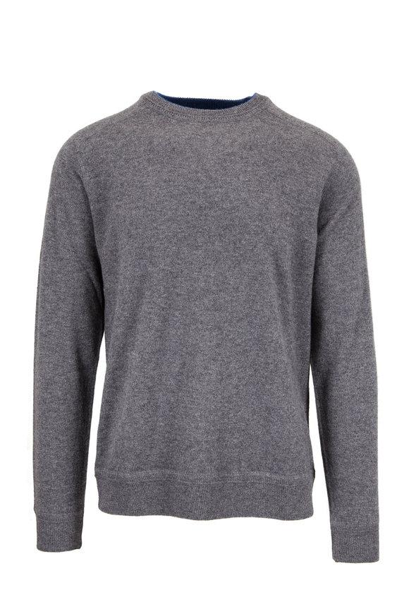 Granite Gray Cashmere Crewneck Sweater