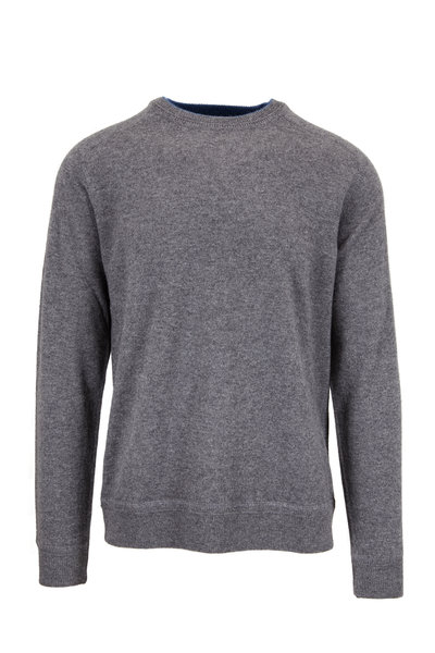 Raffi - Granite Gray Cashmere Crewneck Sweater