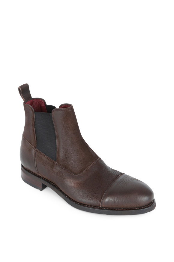 Paraboot Breget Brown Leather & Suede Chelsea Boot