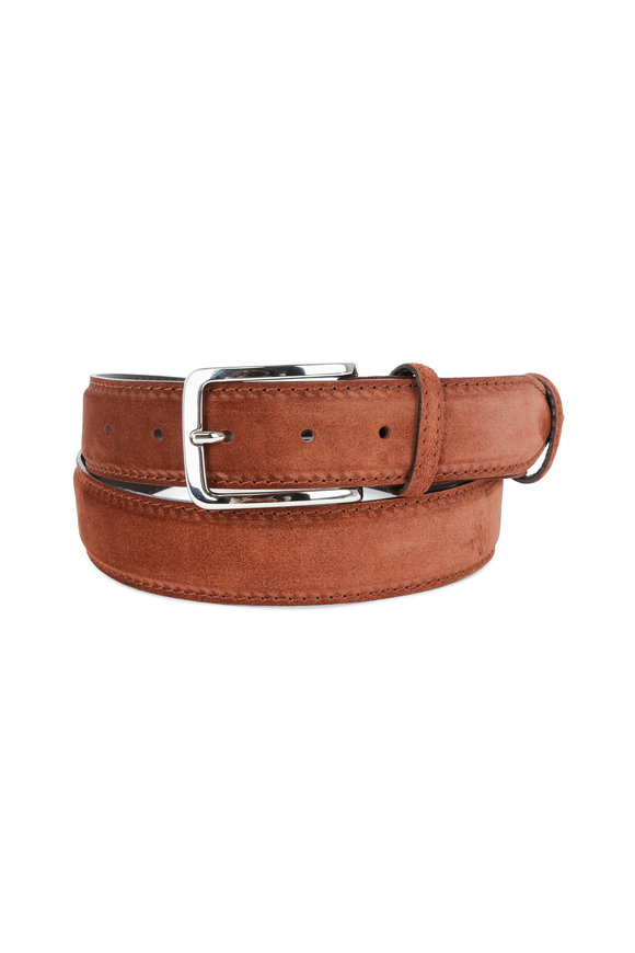 Bontoni Light Brown Suede Belt