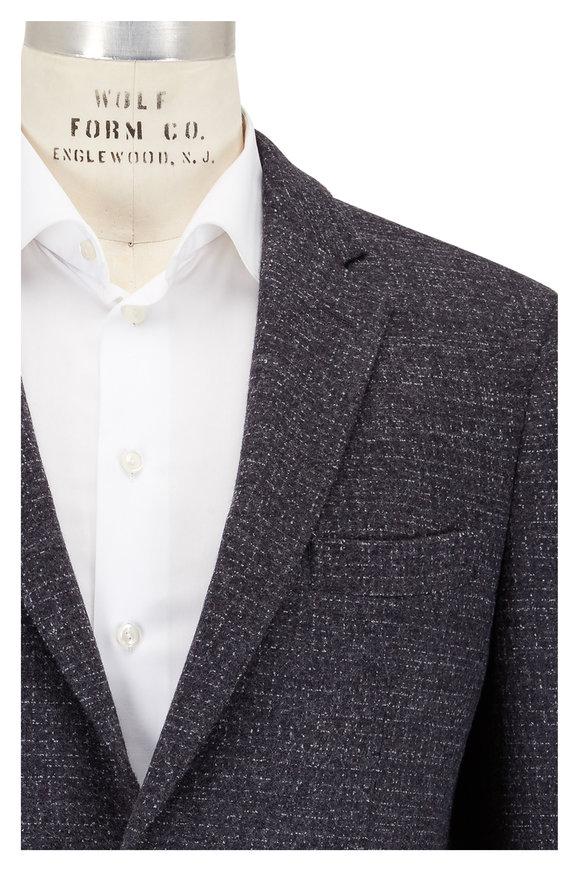 Maurizio Baldassari Charcoal Gray Wool Knit Sportcoat