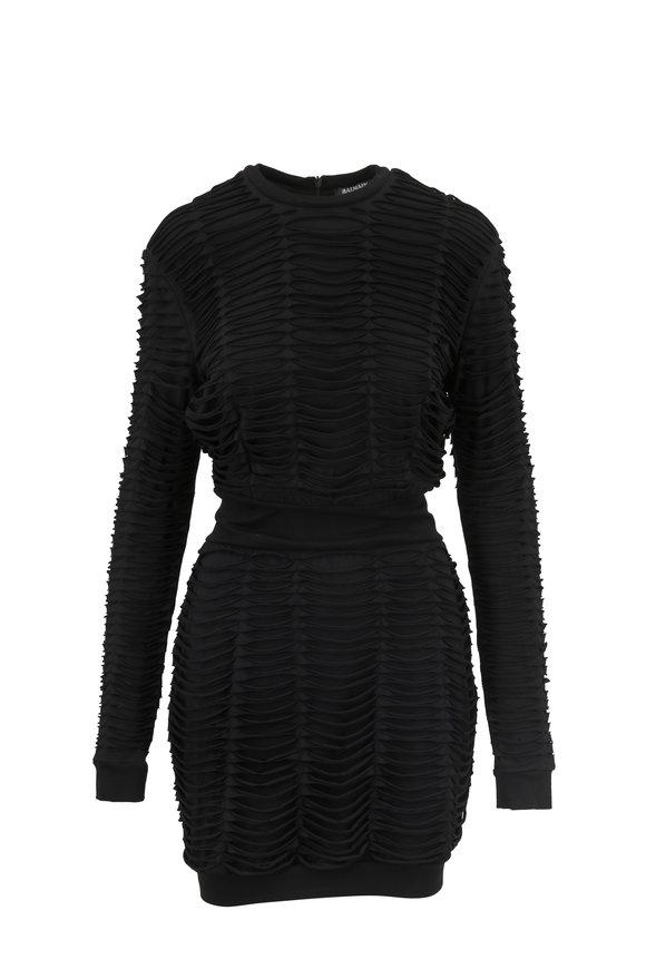 Balmain Black Long Sleeve Dress