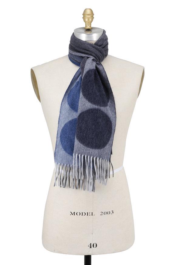 Seaward & Stearn Blue Dot Wool & Angora Scarf