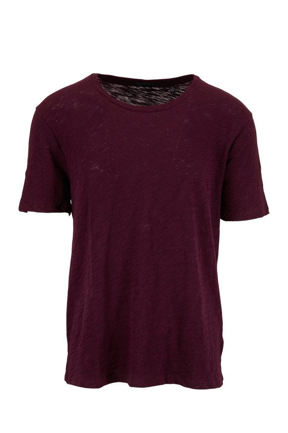A T M Merlot Slub Jersey Short Sleeve T-Shirt