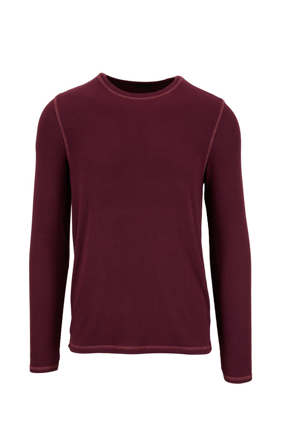 A T M Merlot Super Soft Modal Long Sleeve T-Shirt
