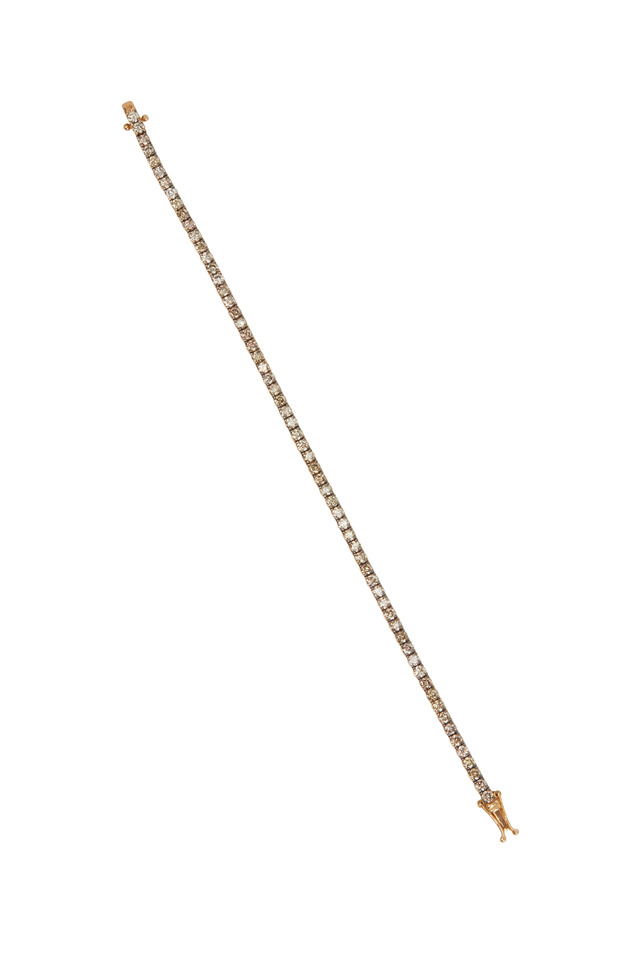Yellow Gold Champagne Diamond Line Bracelet