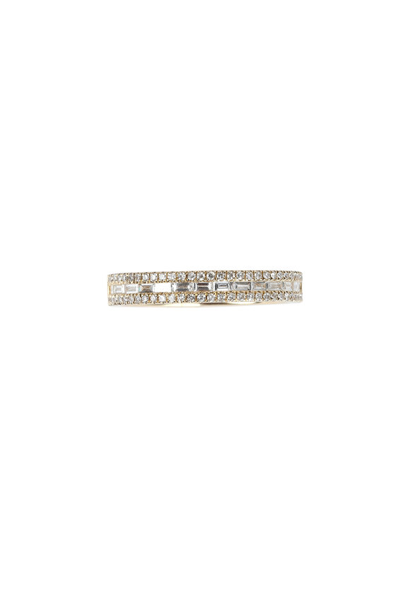 Kai Linz Yellow Gold Pavé Diamond Band