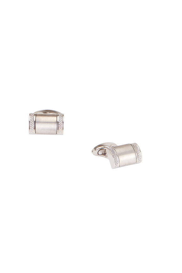 Tateossian Brushed Titanium Rectangular Cuff Links