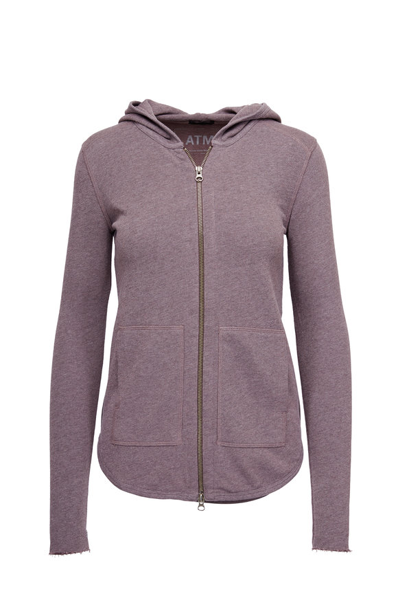 A T M Plum French Terry Hoodie