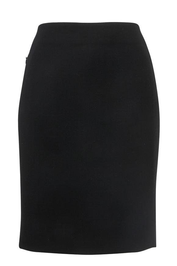 Akris Black Slim Wool Skirt