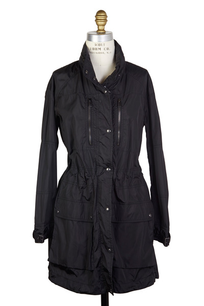 Belstaff - Black Nylon Wind Proof Water Repellant Jacket