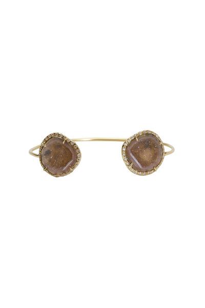 Kimberly McDonald - Yellow Gold Geode Diamond Bracelet