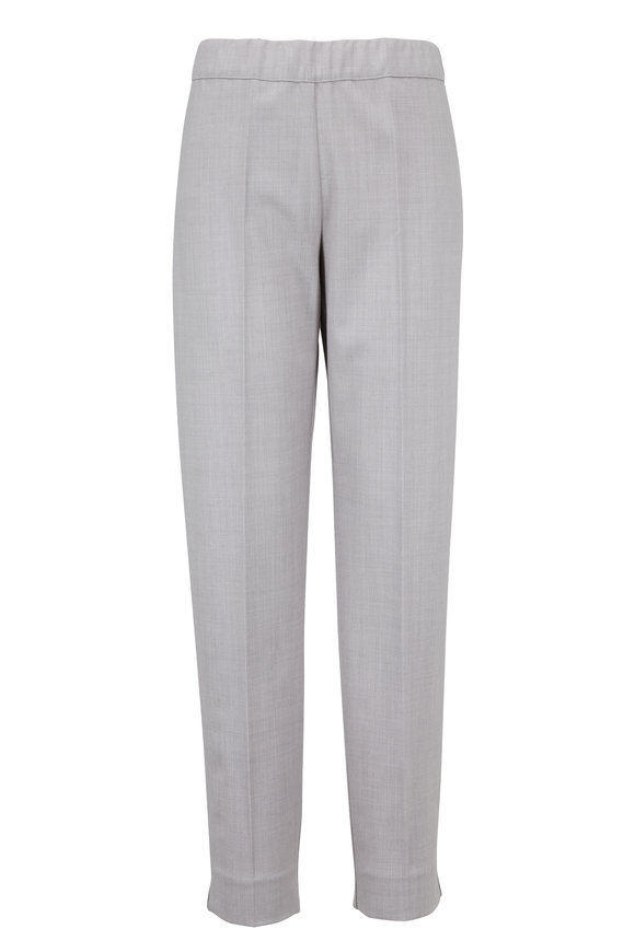D.Exterior Flannel Gray Pull-On Pant