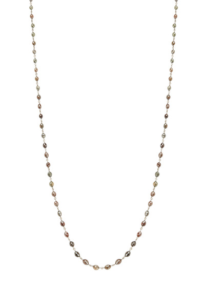 Kathleen Dughi - 18K Yellow Gold Diamond Bead Necklace