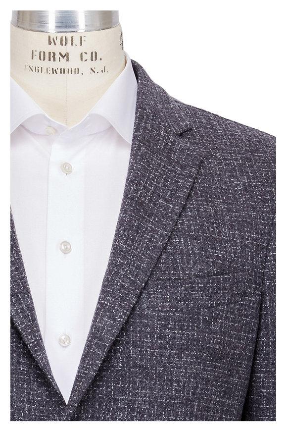 Maurizio Baldassari Charcoal Grey Textured Wool Sportcoat