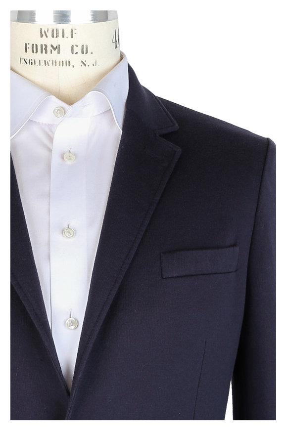 04651 Navy Blue Cotton Knit Sportcoat