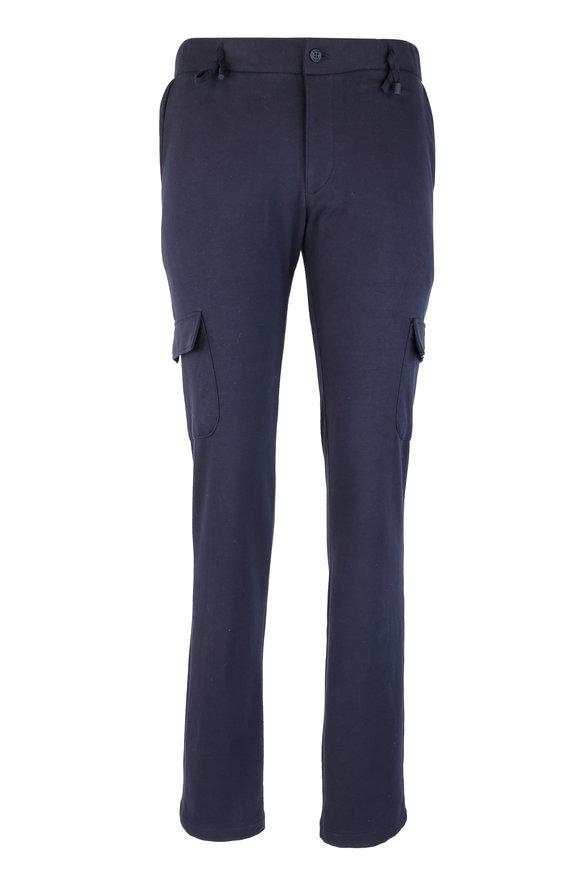 04651 Navy Blue Knit Cargo Pant