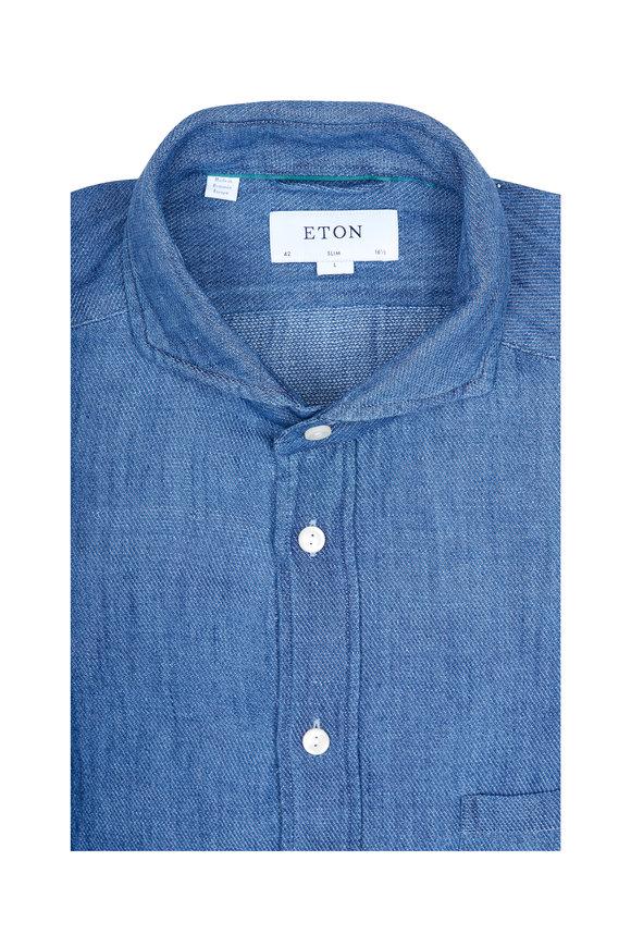 Eton Indigo Blue Slim Fit Sport Shirt