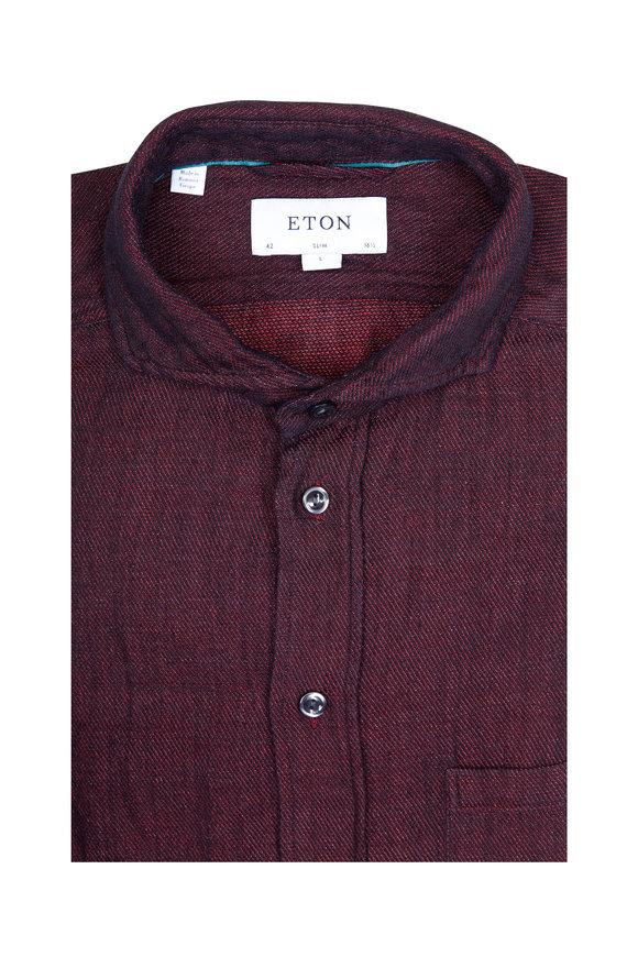 Eton Red & Navy Slim Fit Sport Shirt