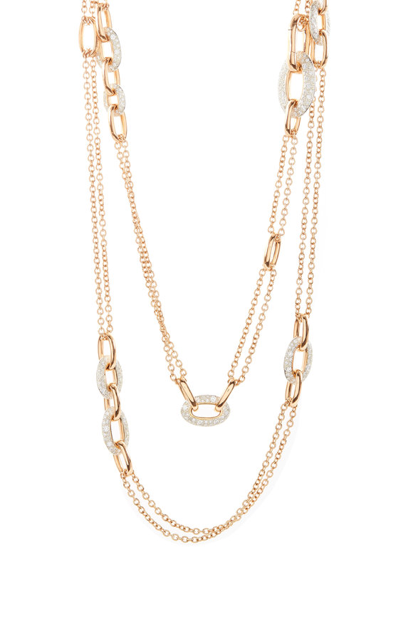 Pomellato 18K Rose Gold Diamond Tango Necklace