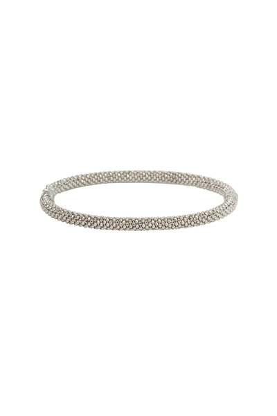 Kathleen Dughi - White Gold Slender Bangle Bracelet