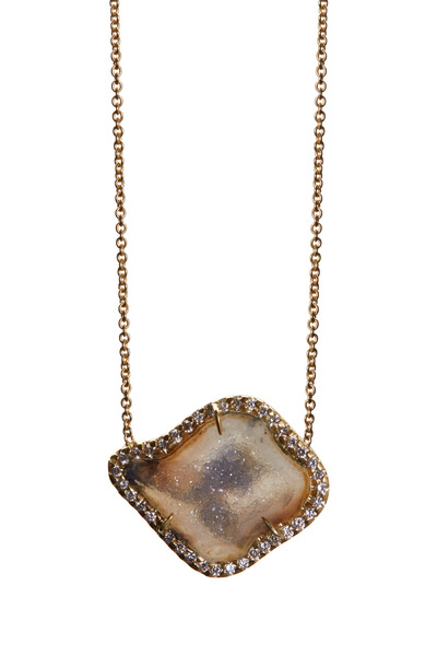 Kimberly McDonald - Yellow Gold Light Geode Diamond Pendant