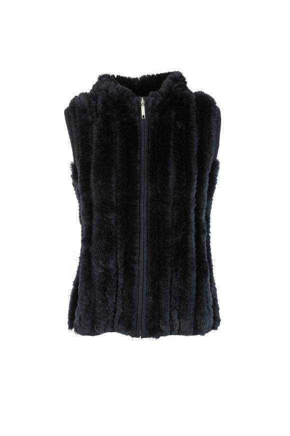 Viktoria Stass Black Rex Rabbit Vest