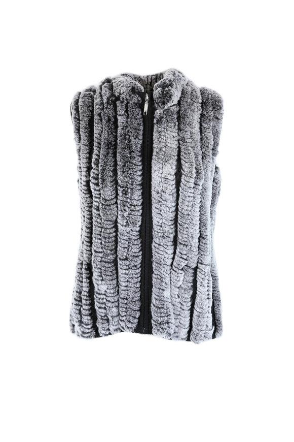Viktoria Stass Chinchilla Rex Rabbit Vest