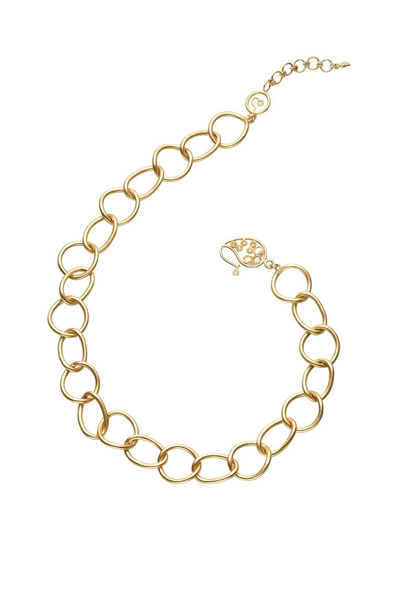 Coomi 20K Yellow Gold Antiquity Link Necklace
