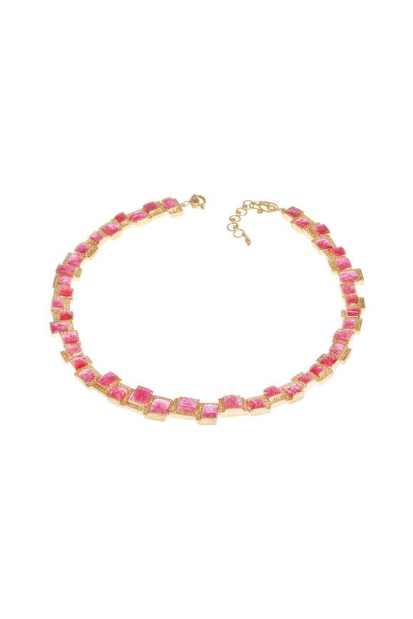 Coomi 20K Yellow Gold Ruby & Diamond Luminosity Necklace