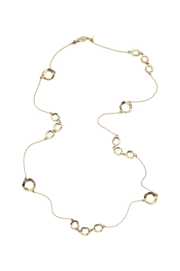 Coomi 20K Yellow Gold Diamond Open Necklace
