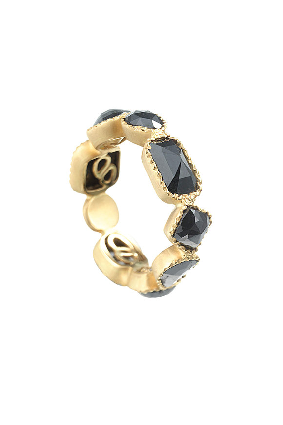 Coomi 20K Yellow Gold Black Diamond Ring